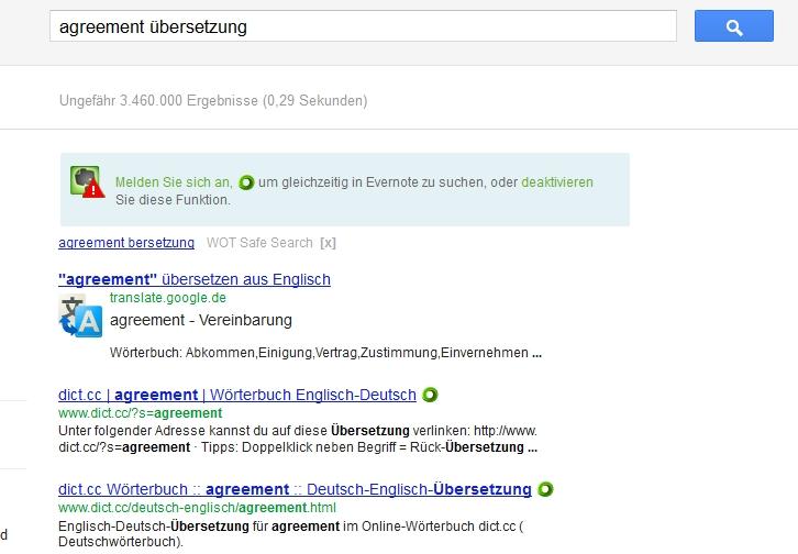 Google-Suche mit Operator übersetzen: oder translate: