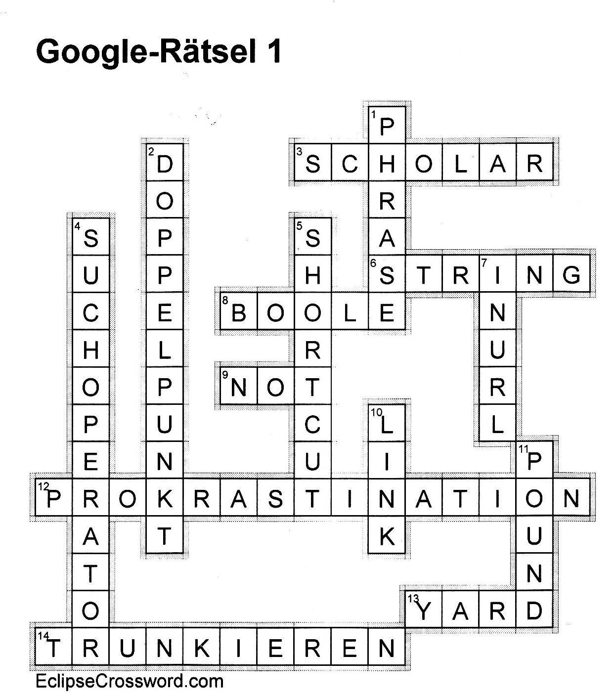 Google Rätsel Lösung