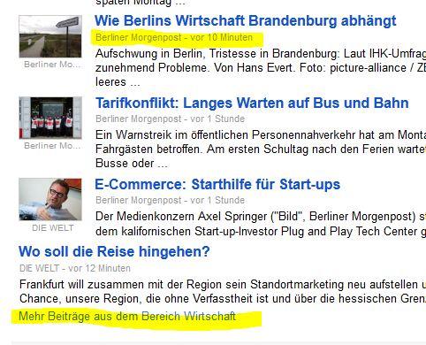 Mehr Beiträge im Bereich Wirtschaft - Berliner Morgenpost als Quelle, und zwar ganz aktuell!