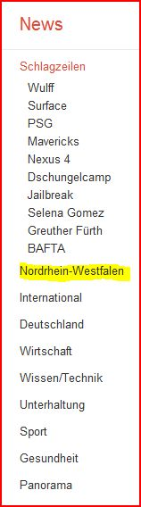 Wenn Sie es noch nicht wussten: Ich sitze in NRW ...