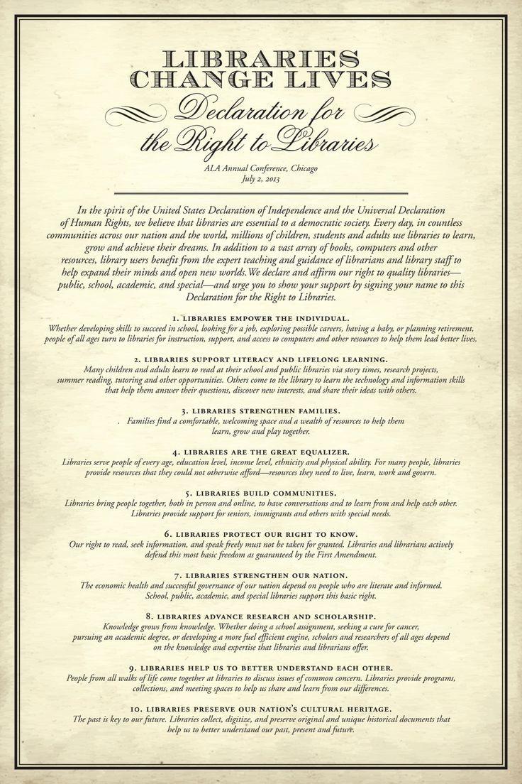 Ein Recht auf Bibliotheken – das ist mal 'ne Deklaration wert!