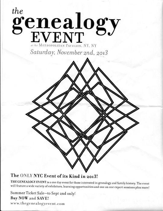 Flyer zur Veranstaltung, den ich aus der Public Library in NYC mit gebracht habe.