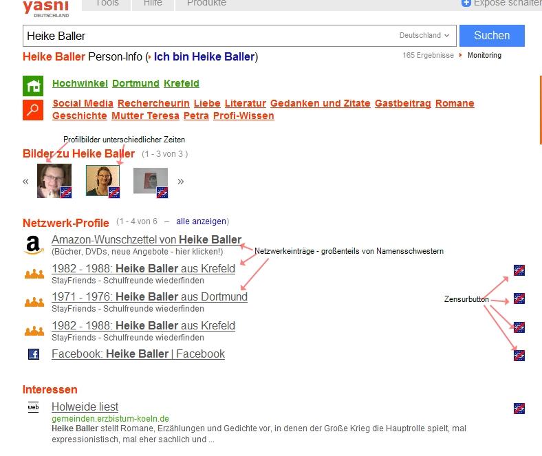 Gut, dass bei den Netzwerk-Profilen die Ortsangabe dahinter stehen - da kann man direkt filtern