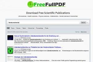 Ohne Schnickschnack drumherum - eine schnelle Möglichkeit, Themen auf freie PDFs abzuklopfen