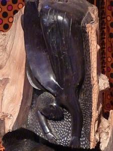Verkündigungsengel der afrikanischen Krippe, die in Miltenberg zu fidnen ist