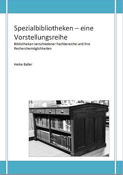 Spezialbibliotheken Neuauflage E-Book neue Blogartikel Ankündigung