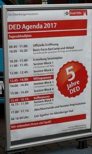 #DED17 Zeitplan