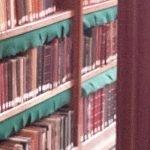 Rijksmuseum Research Library Regale Staubschutz grünes Tuch