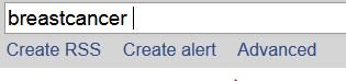 Create alert bei PubMed