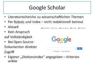 Google Scholar Kritik Alert