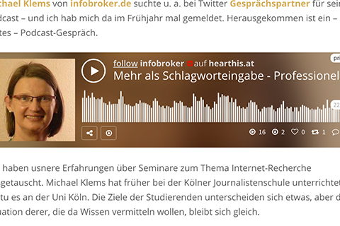 Interview auf infobroker.de