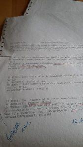 Recherche Anno dunnemals Lochpapier Ausdruck Literaurliste Literaturrecherche