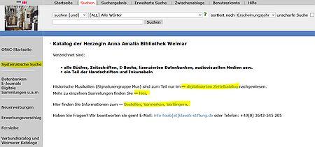 Der Katalog der Herzogin-Anna-Amalia-Bibliothek