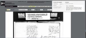Screenshot einer Digitalisatseite mit Hinweis auf Blätterfunktion udn  Druck/Download-Funktion.