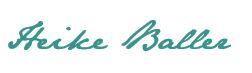 Unterschrift Heike Baller in Schrift von Jane Austen