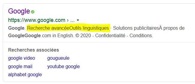 Französische Ergebnisse mit Google-France - as muss dann erst mal aufgerufen werden