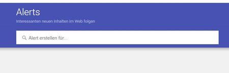 Screenshot Start Google Alerts