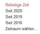 Screenshot Google Scholar Zeitfilter als Option