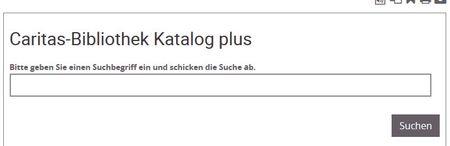 Screenshot einfache Suche bei Caritas-Bibliothek Freiburg