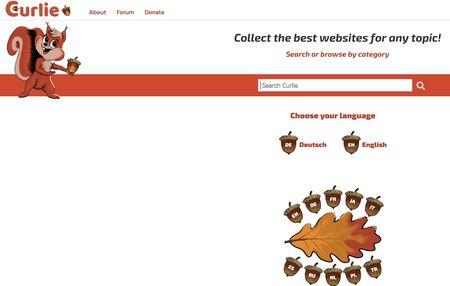 Screenshot Curlie Startseite