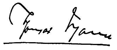 Unterschrift Thomas Mann