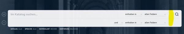 Startseite Opencat mit der ausgeklappten Option eienr zweiten Suchzeile